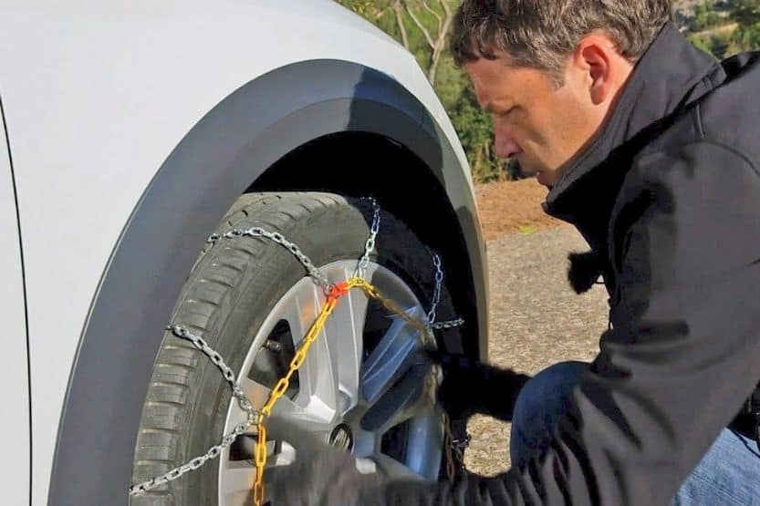 how fast can you drive with snow chains