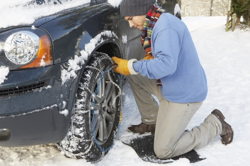 how to install snow chains