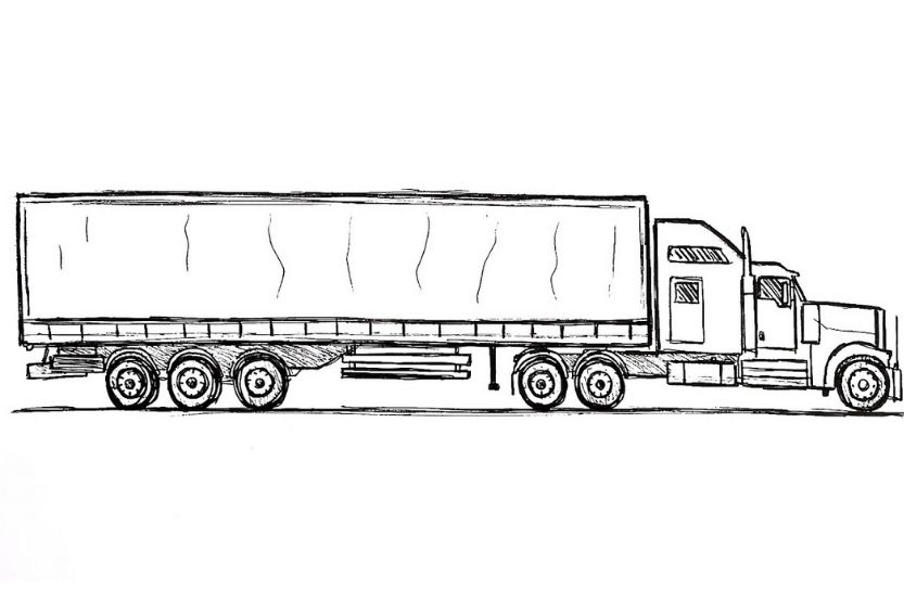 average weight of a semi truck