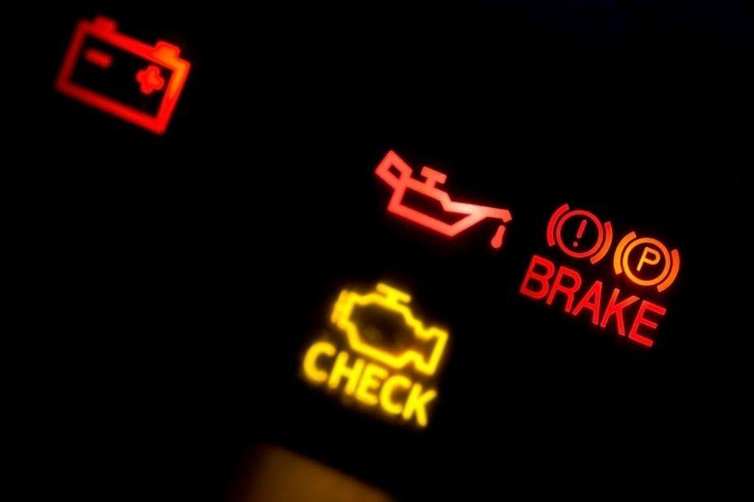 check engine light blinks