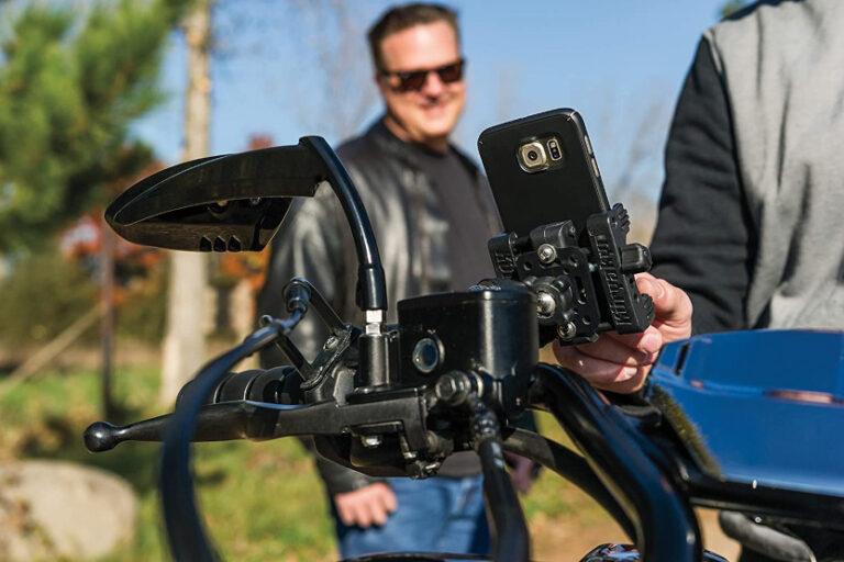 Read more about the article Motorcycle Phone Holder [10 Best Motorcycle Cell Phone Holders]